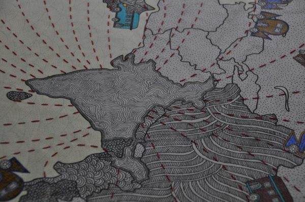 Mural at Pravasi_Bhartiya_Kendra,_at_Chanakyapuri,_in_New_Delhi
