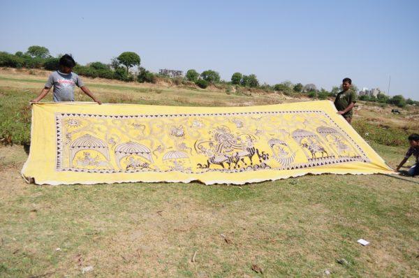 Gujarat Kalamkari in progress