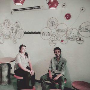 Kalamkari, Mata Ni Pachedi, public art installation, art installations in Ahmedabad, wall murals in Ahmedabad, wall murals, cafe mural, Apnaa Adda
