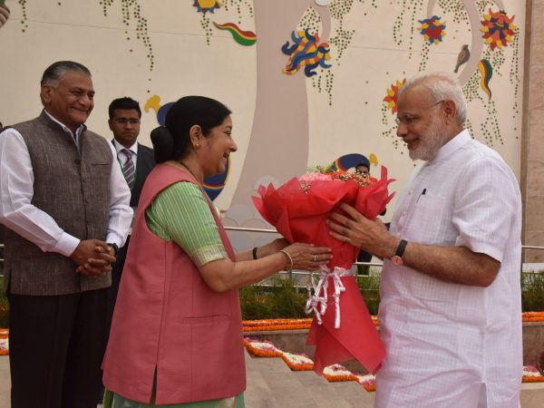 The_Prime_Minister,_Shri_Narendra_Modi_at_the_inauguration_of_the_Pravasi_Bhartiya_Kendra,_at_Chanakyapuri,_in_New_Delhi